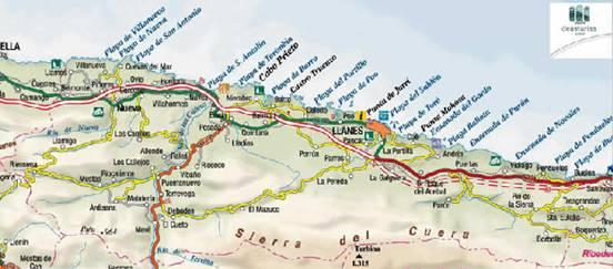 Hotel trisquel for Mapa santander sucursales